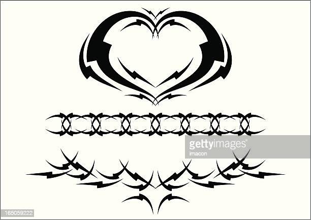 tribal tattoo designs. - human back stock illustrations, clip art, cartoons, & icons