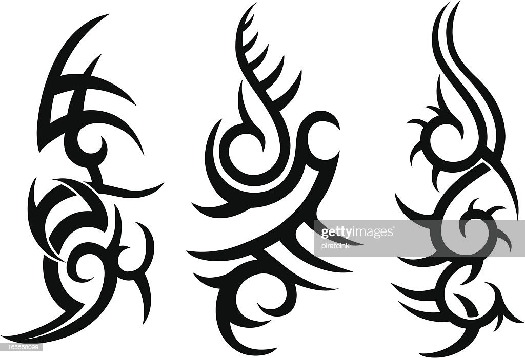 Tribal Tattoo Designs High Res Vector Graphic Getty Images