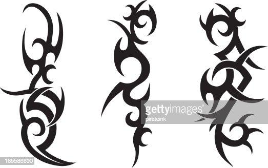 Tribal tattoo designs vector art getty images - Dibujos tribales para tatuar ...