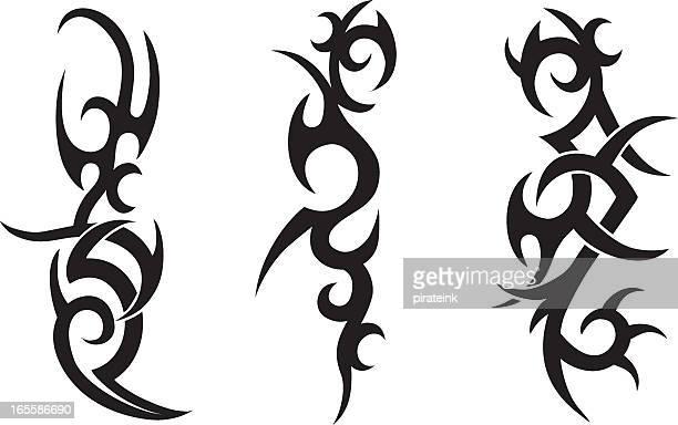 illustrations, cliparts, dessins animés et icônes de tatouage tribal designs - culture indigène