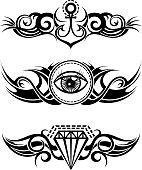 Tribal tattoo elements