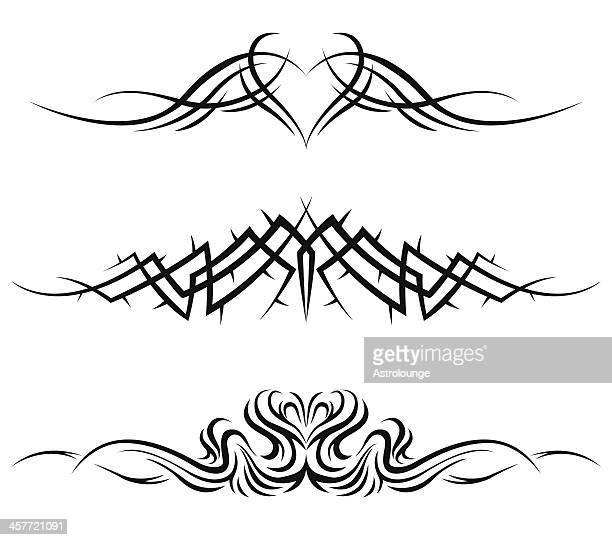 tribal tattoos - sharp stock illustrations