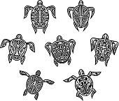 Tribal turtles tattoos