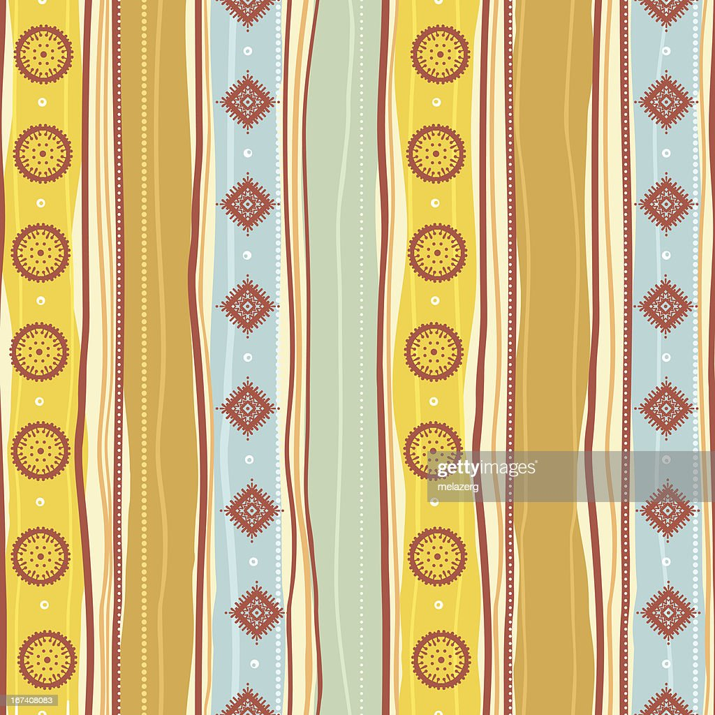 Tribal Motif jaune : Clipart vectoriel
