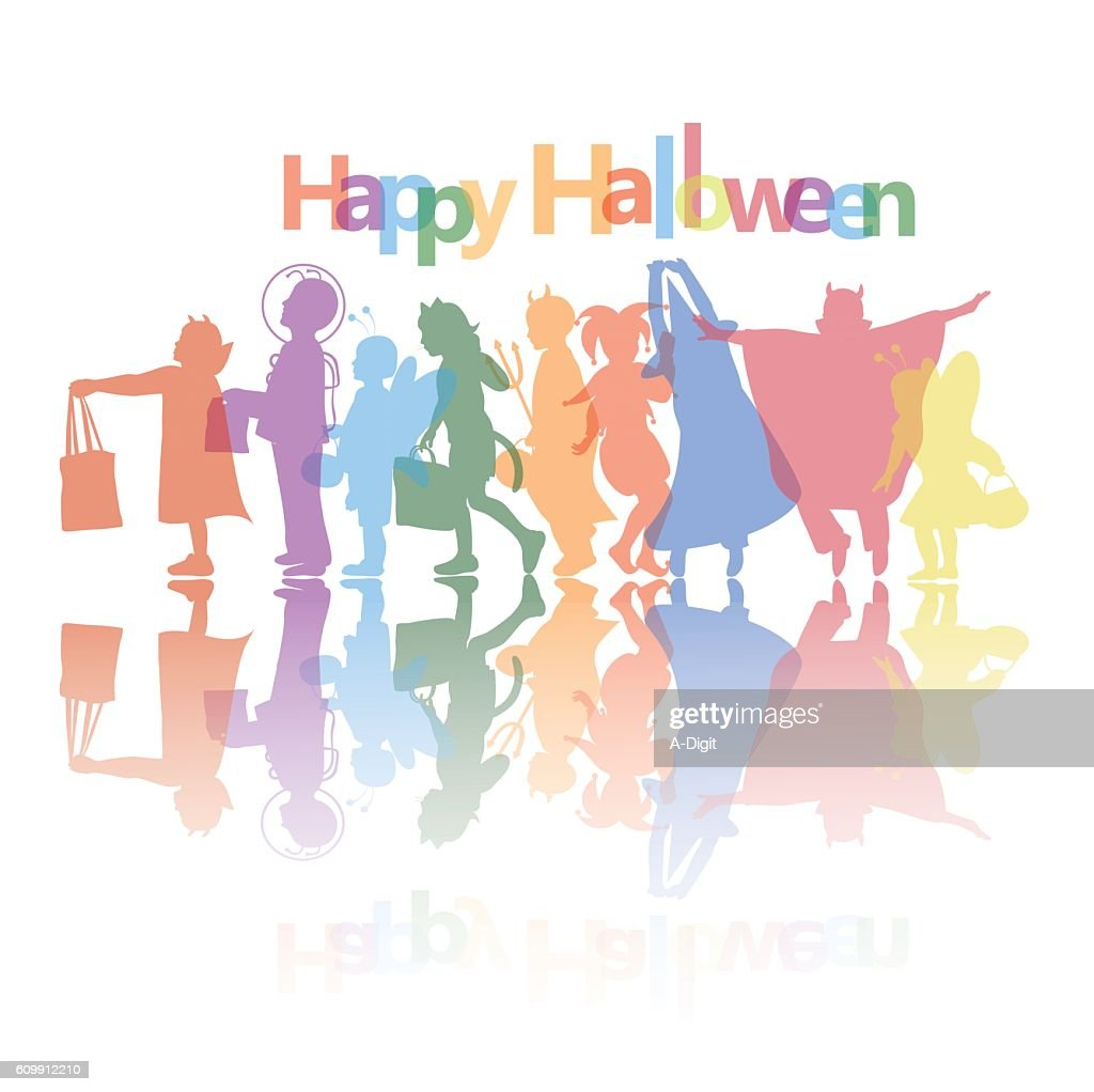 trick or treat halloween wishes vector art | getty images