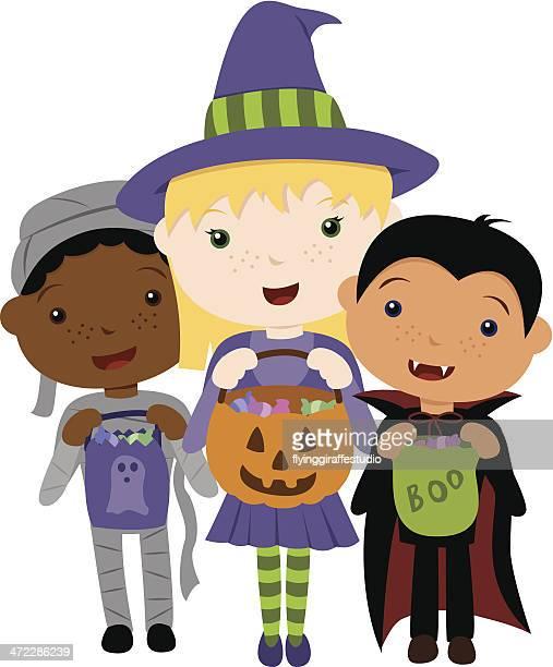 Süßes oder Saures-Halloweenspruch Trio