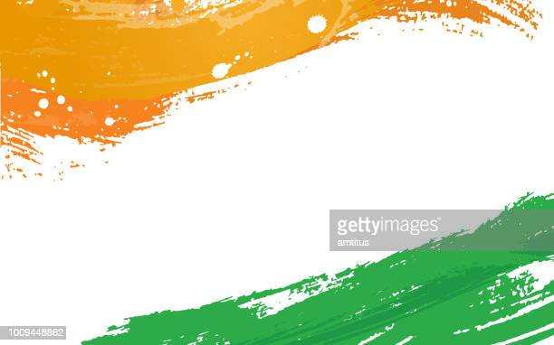 tricolor brush stroke - india politics stock illustrations
