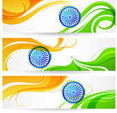 Tricolor India banner