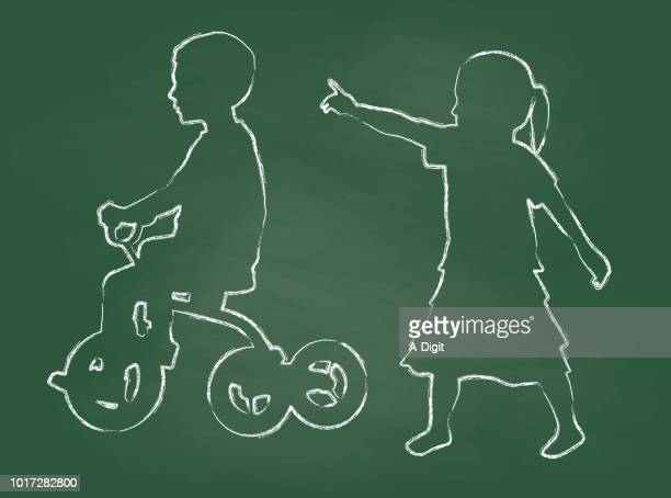 Tricycle Children Chalk