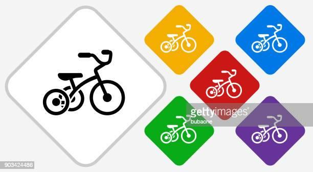 Tricycle Color Diamond Vector Icon