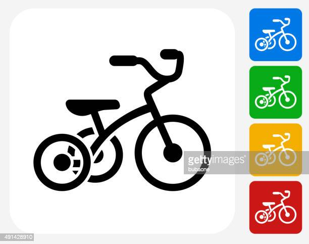 Tricycle Icon Flat Graphic Design