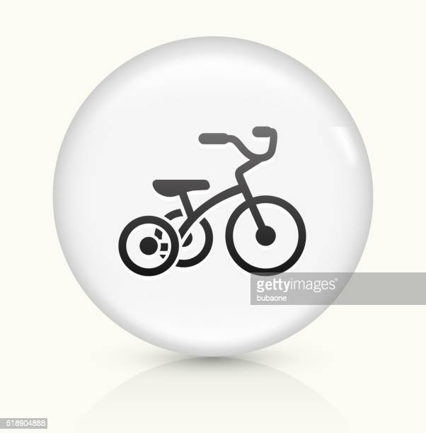 Tricycle icon on white round vector button