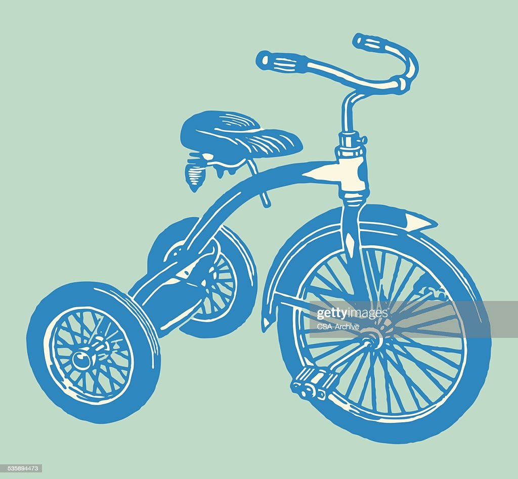 Tricycle : Vector Art