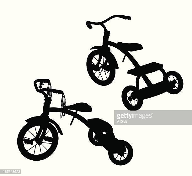Tricycle Vector Silhouette