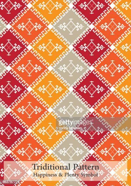 triditional パターン '幸福・十分なシンボル' - アナトリア点のイラスト素材/クリップアート素材/マンガ素材/アイコン素材
