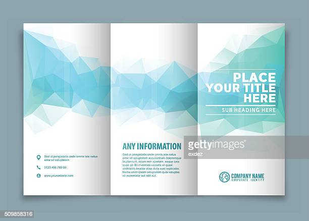 tri-fold brochure design . - printout stock illustrations
