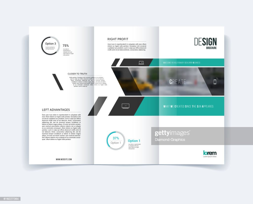 Trifold Brochure Template Layout Cover Design Flyer In A4