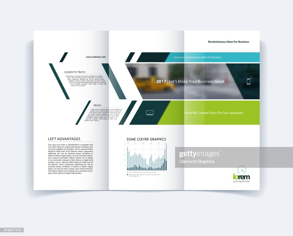 Tri-fold Brochure template layout, cover design, flyer in A4