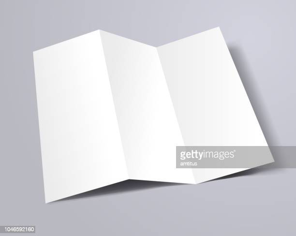 trifold brochure template - blank stock illustrations
