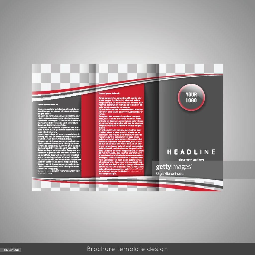 Trifold business brochure template design vector art getty images trifold business brochure template design vector art accmission Image collections