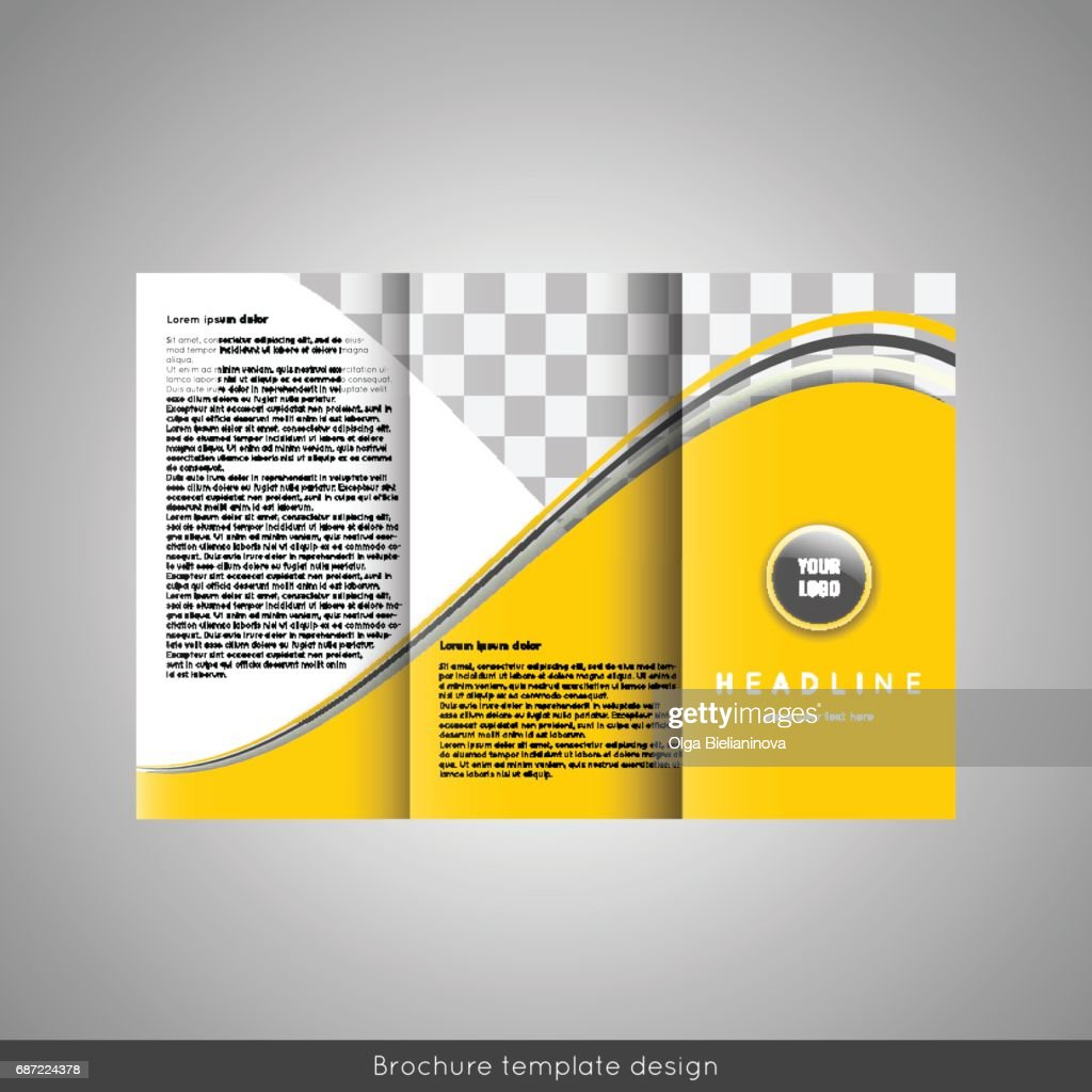 trifold business brochure template design vector art getty images