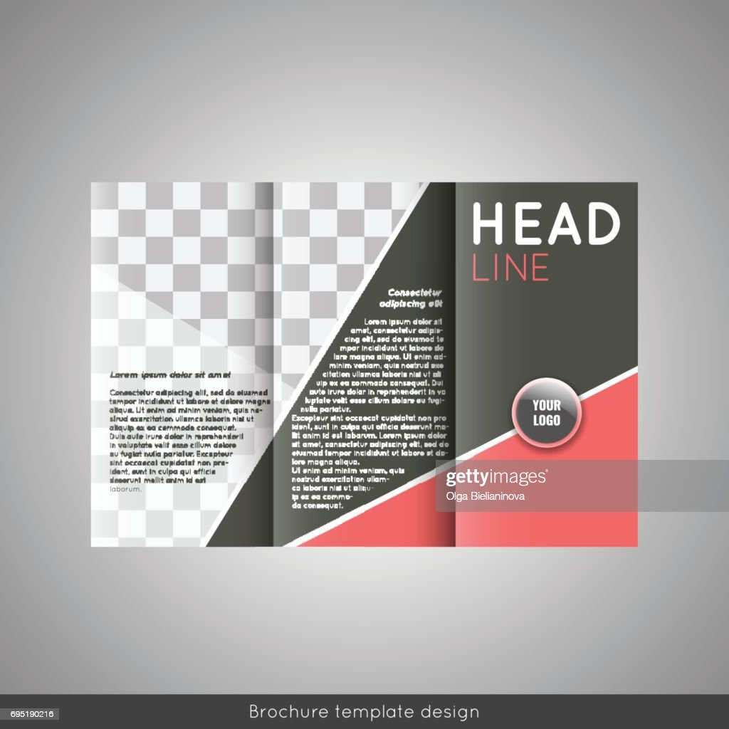 Trifold Business Brochure Template Design With World Map Infographic