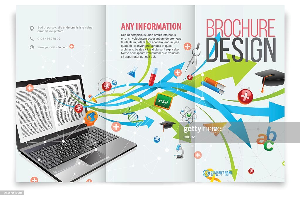 Tri-fold template design on education