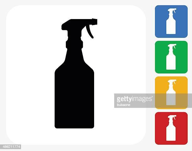 trigger spray bottle icon flat graphic design - trigger stock illustrations