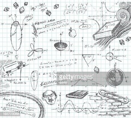 Trigonometry Math Class Doodle Stock Illustration Getty