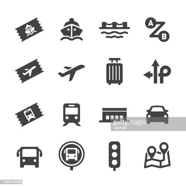 trip icons - acme series - business travel stock illustrations