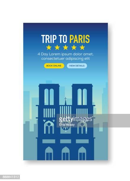 Voyage à Paris de bannière