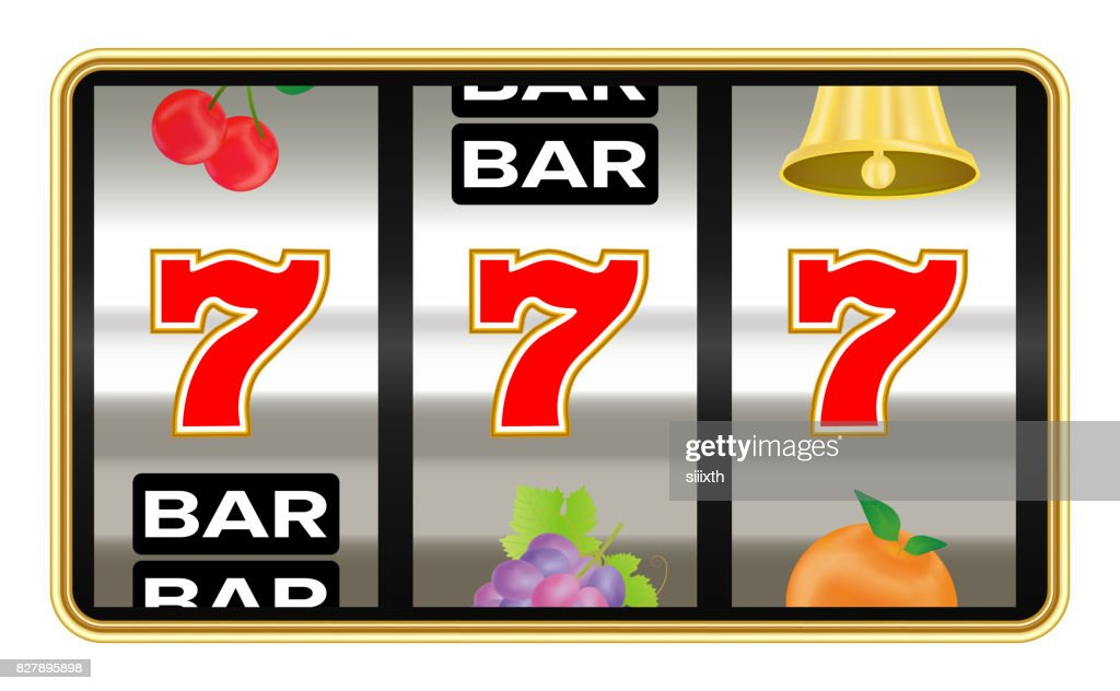 triple seven number on slot machine vector