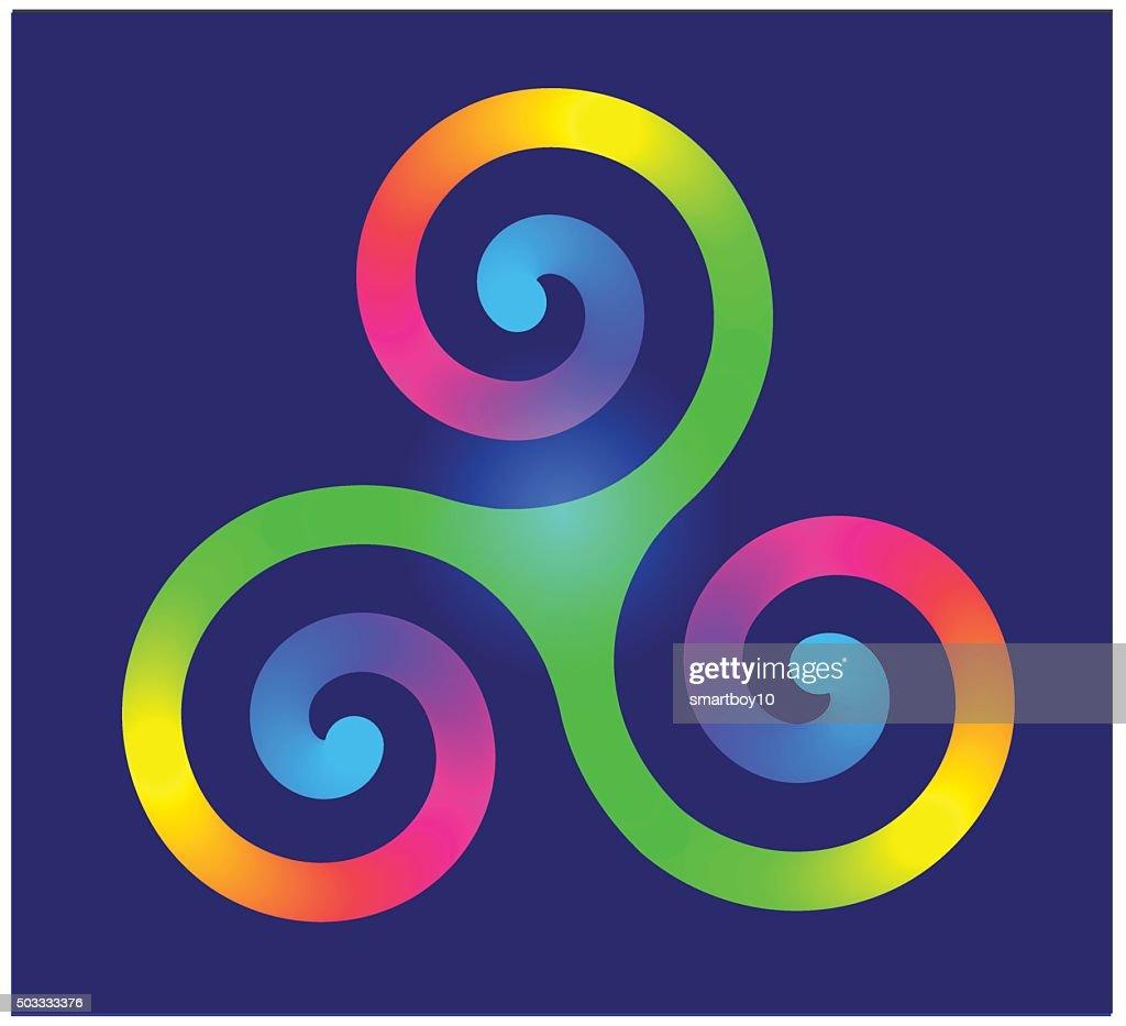 Triple spiral or triskele celtic symbol symbol vector art getty triple spiral or triskele celtic symbol symbol vector art buycottarizona Images