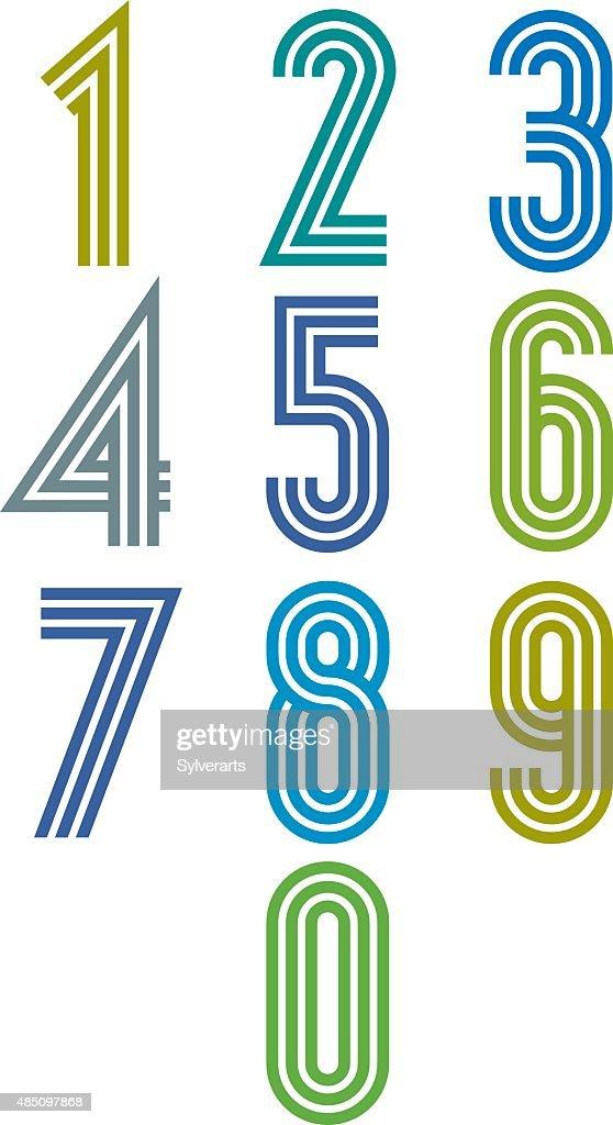 Triple stripes funky numbers set.