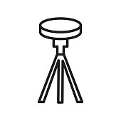 Tripod icon vector sign and symbol isolated on white background, Tripod logo concept
