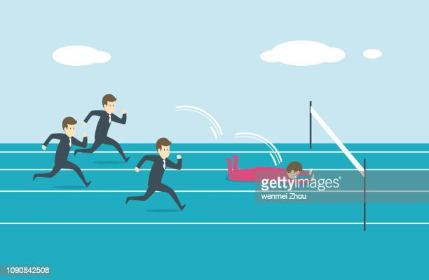 ilustrações, clipart, desenhos animados e ícones de viajando - corrida esportiva