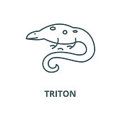 Triton vector line icon, linear concept, outline sign, symbol