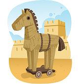 Trojan Wooden Horse Ancient Greece Animal Troy War
