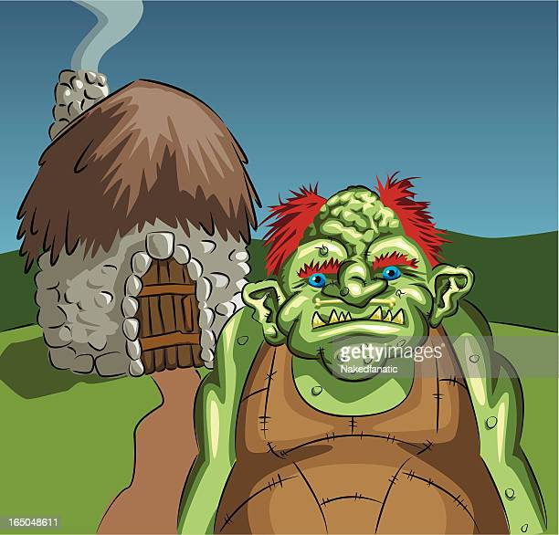 Troll at home vector