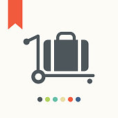 Trolley luggage icon