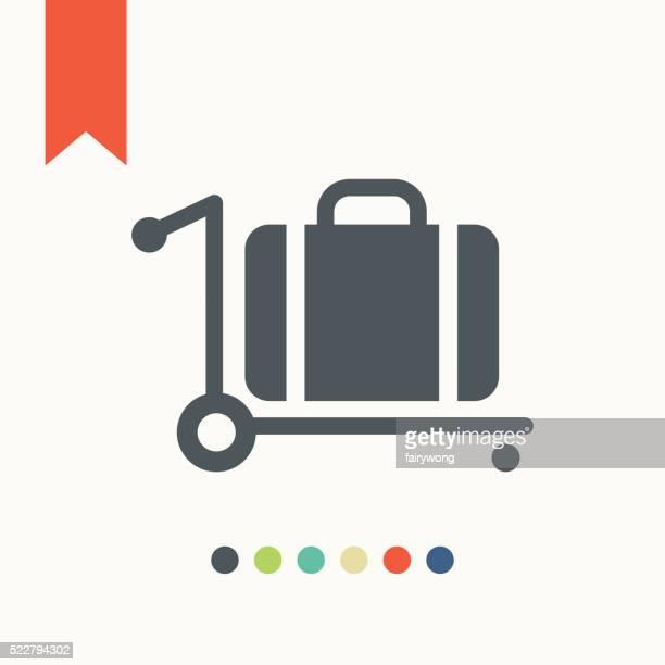 Trolley luggage icon