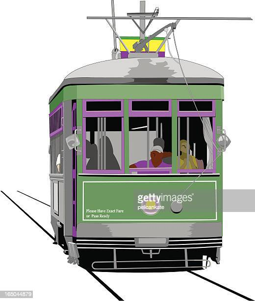 trolley - new orleans stock illustrations, clip art, cartoons, & icons