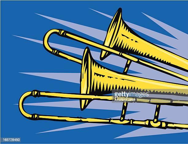 トロンボーン - ブラスバンド点のイラスト素材/クリップアート素材/マンガ素材/アイコン素材