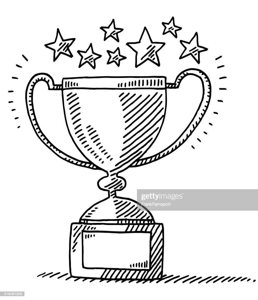Trophy Achievement Stars Drawing : stock illustration