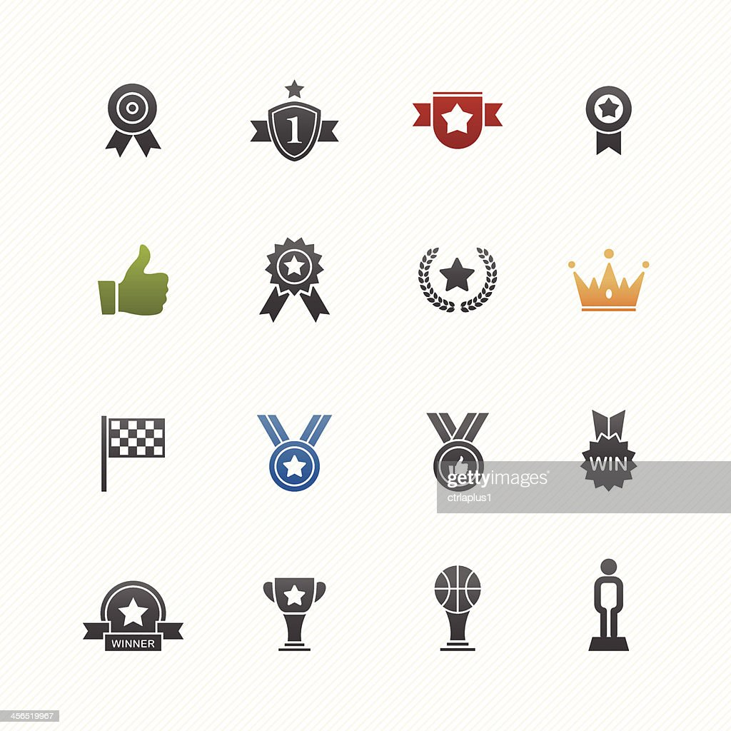 Trophy and prize vector symbol icon set
