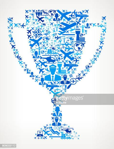 Trophy Aviation and Air Planes Vector Graphic