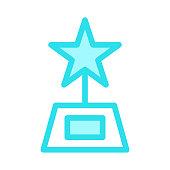 trophy Colour Line Icon
