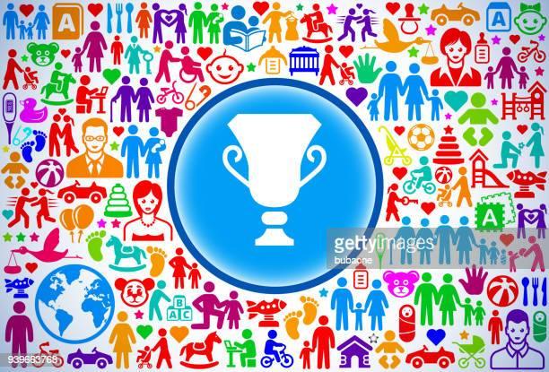 ilustrações, clipart, desenhos animados e ícones de troféu família e parentalidade vector ícone padrão - trophy