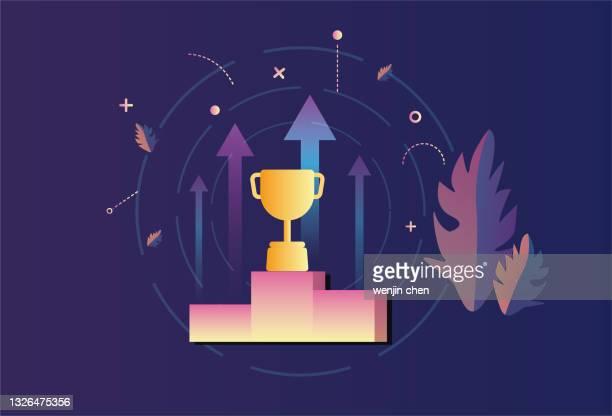 ilustrações, clipart, desenhos animados e ícones de ícone de honra do troféu - trophy