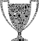 Trophy Icon Business and Finance Vector Icon Pattern